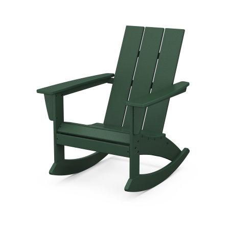 Modern Adirondack Rocking Chair in Green