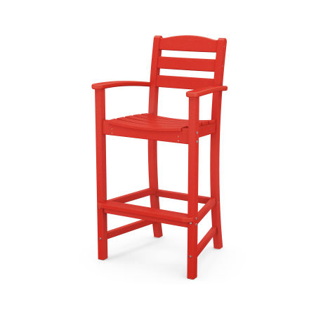 La Casa Café Bar Arm Chair in Sunset Red