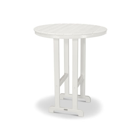 "Classics Round 36"" Bar Table in White"