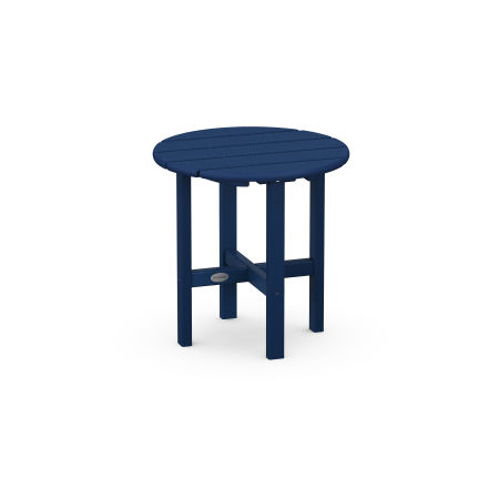 "Round 18"" Side Table in Navy"