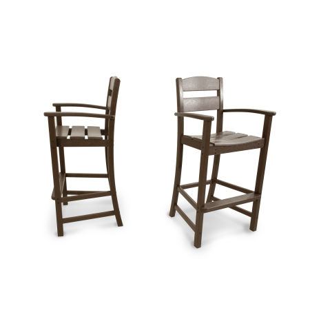 Classics 2-Piece Bar Arm Chair Set in Mahogany