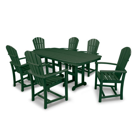 Palm Coast 7-Piece Dining Set in Green