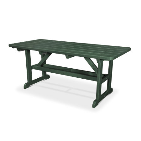 """Park 33"""" x 70"""" Picnic Table in Green"""