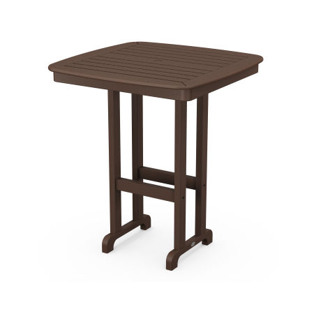 "Nautical 37"" Bar Table in Mahogany"