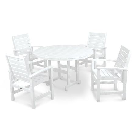 Signature 5-Piece Dining Set in White