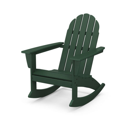 Vineyard Adirondack Rocking Chair in Green