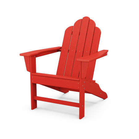 Long Island Adirondack in Sunset Red