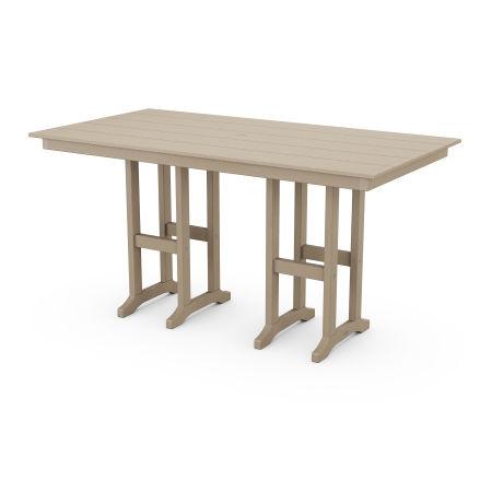 "Farmhouse 37"" x 72"" Counter Table in Vintage Sahara"