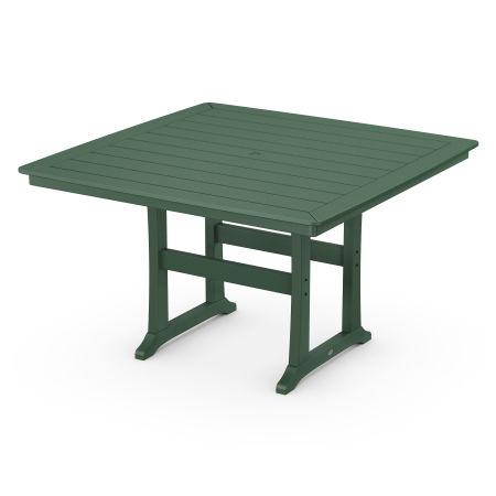 """Nautical Trestle 59"""" Counter Table in Green"""