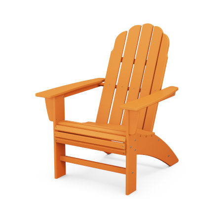 Vineyard Curveback Adirondack Chair in Tangerine