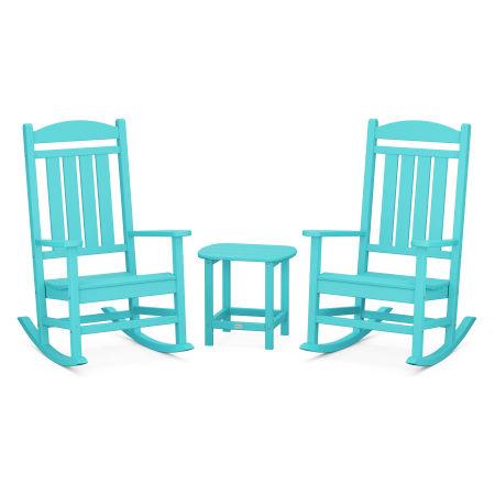 Presidential Rocking Chair 3-Piece Set in Aruba