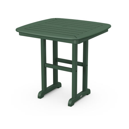 """Nautical 31"""" Dining Table in Green"""