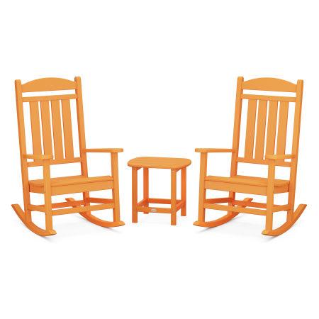 Presidential Rocking Chair 3-Piece Set in Tangerine