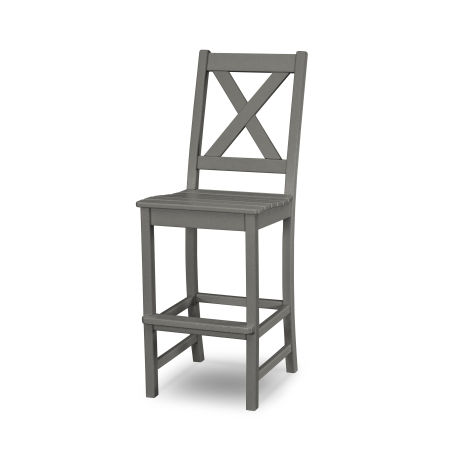 Braxton Bar Side Chair in Slate Grey