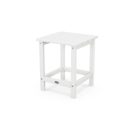 """Long Island 18"""" Side Table in White"""