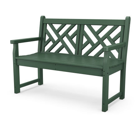"""Chippendale 48"""" Bench in Green"""