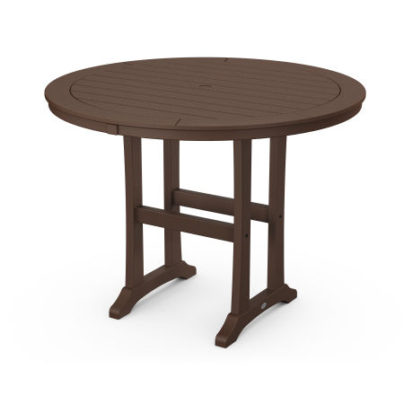 """48"""" Round Counter Table in Mahogany"""