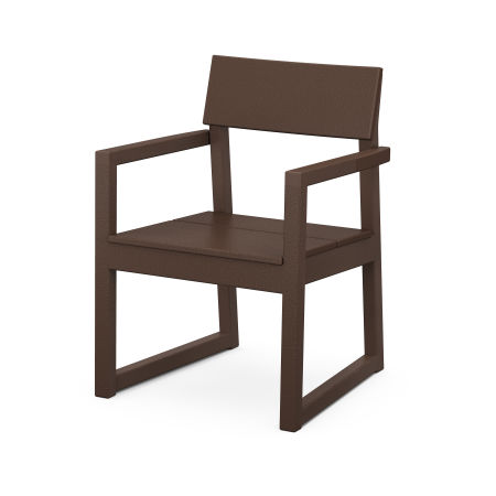 EDGE Dining Arm Chair in Mahogany