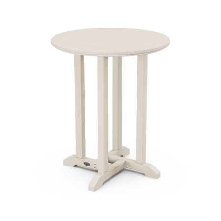 """24"""" Round Dining Table in Sand"""