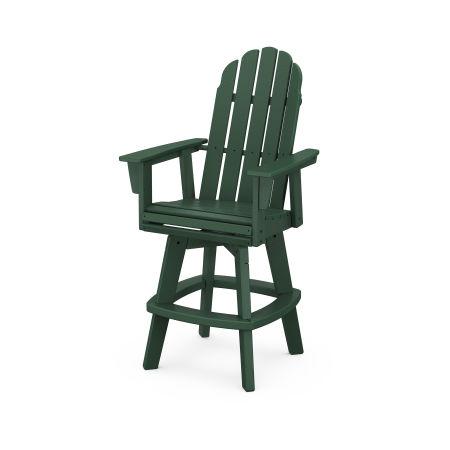Vineyard Adirondack Swivel Bar Chair in Green