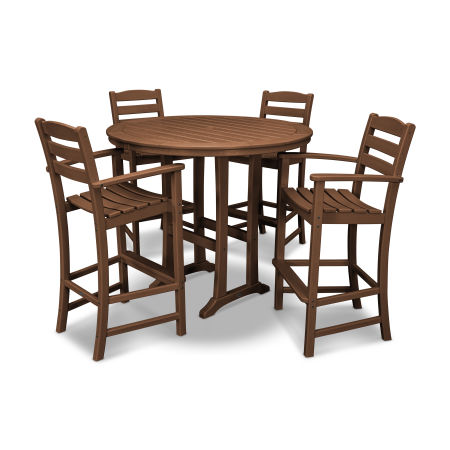 La Casa Café 5 Piece Bar Dining Set in Teak
