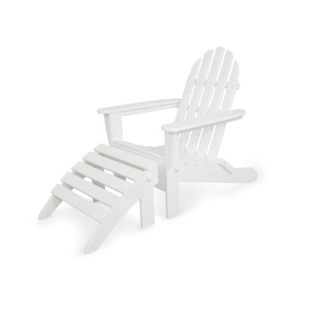 Classics 2-Piece Folding Adirondack Set in White