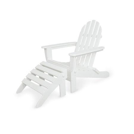 Classics 2-Piece Folding Adirondack Set in White