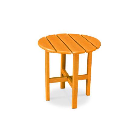 "Round 18"" Side Table in Vintage Tangerine"