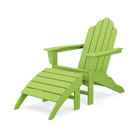 Long Island Adirondack 2-Piece Set in Lime