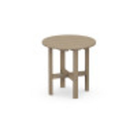 """Round 18"""" Side Table in Vintage Sahara"""