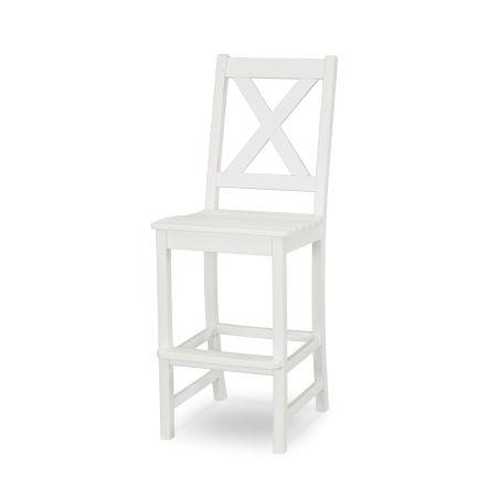 Braxton Bar Side Chair in White