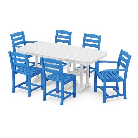 La Casa Café 7-Piece Dining Set in Pacific Blue