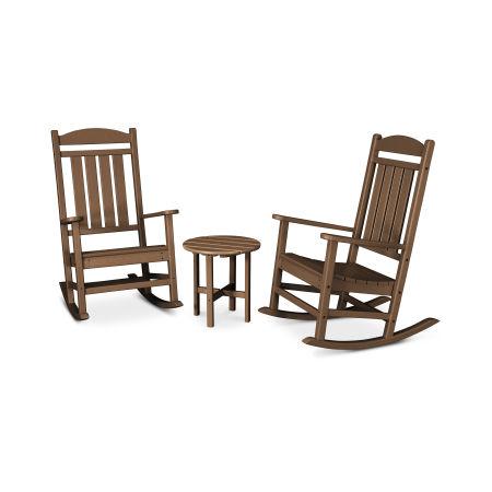 Presidential 3-Piece Rocking Chair Set in Teak