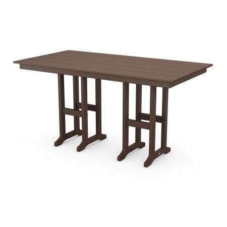 """Farmhouse 37"""" x 72"""" Counter Table in Mahogany"""