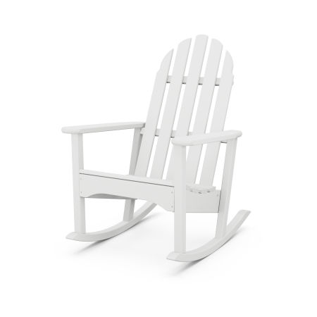 Classic Adirondack Rocking Chair in White