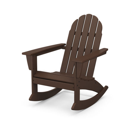 Vineyard Adirondack Rocking Chair in Mahogany