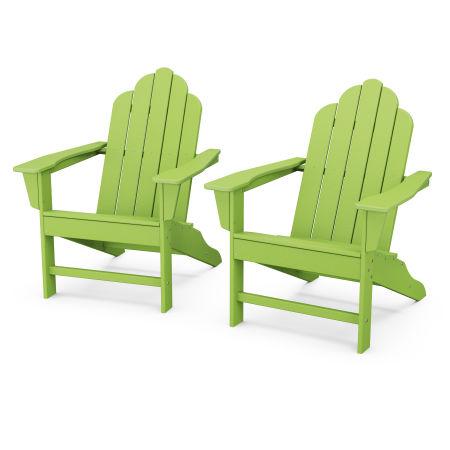 Long Island Adirondack 2-Piece Set in Lime