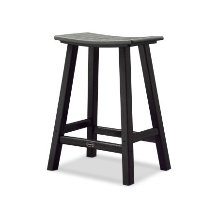 "Contempo 24"" Saddle Counter Stool"