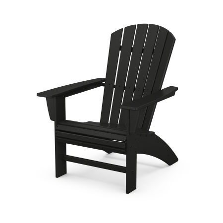 Nautical Curveback Adirondack Chair in Black