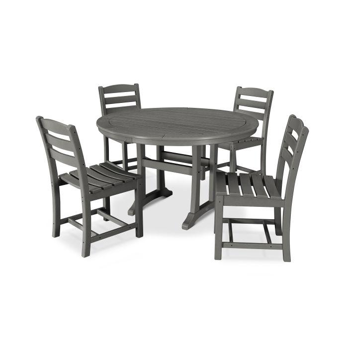 La Casa Café 5 Piece Side Chair Dining Set