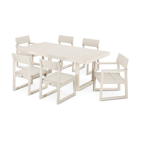 EDGE 7-Piece Dining Set in Sand