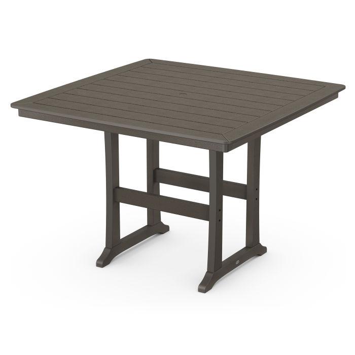"Nautical Trestle 59"" Bar Table in Vintage Finish"