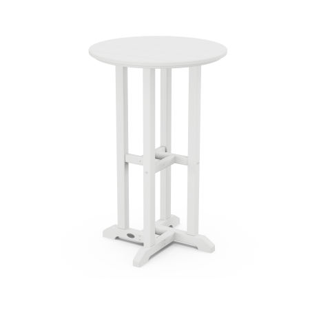 """Traditional 24"""" Round Counter Table in White"""