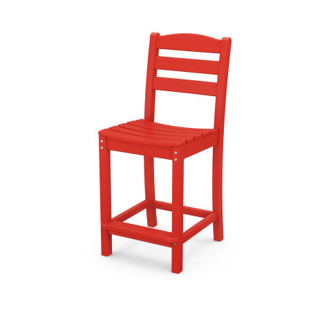 La Casa Café Counter Side Chair in Sunset Red