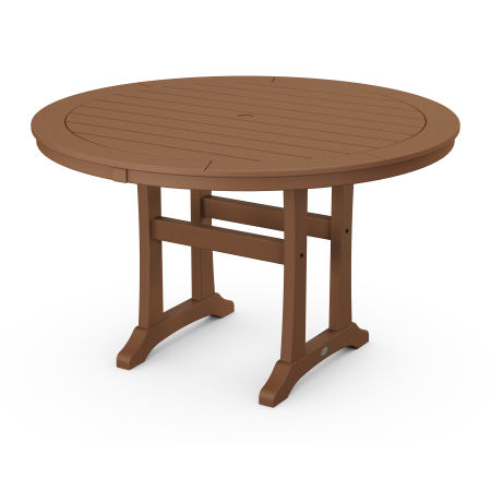 """48"""" Round Dining Table in Teak"""