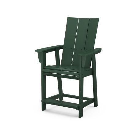 Modern Adirondack Counter Chair in Green