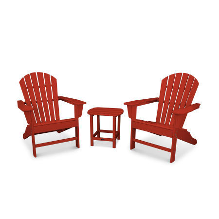 South Beach Adirondack 3-Piece Set in Crimson Red