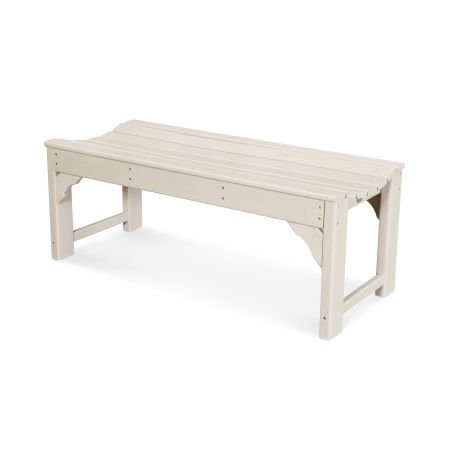 "Traditional Garden 48"" Backless Bench in Sand"