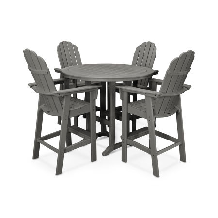 Vineyard Adirondack 5-Piece Nautical Trestle Bar Set