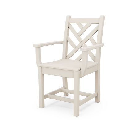Chippendale Dining Arm Chair in Sand